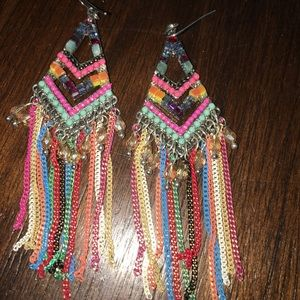 Jewelry - Colorful hanging earrings!